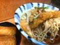 かき揚げ天玉蕎麦、いなり寿司